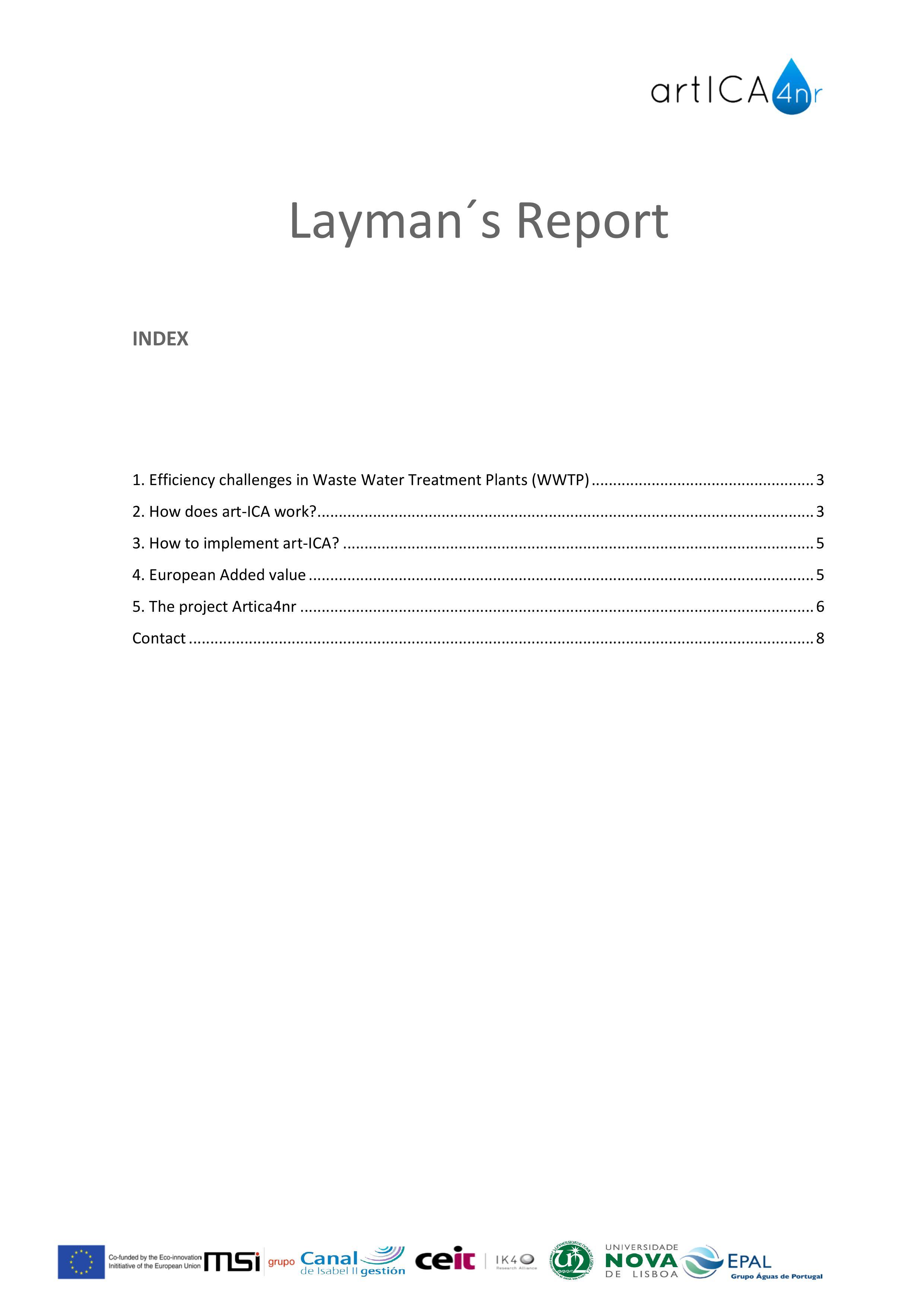 Layman Report ArtICA4nr 2